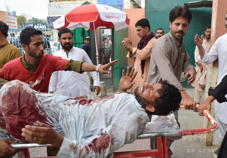 パキスタン自爆攻撃で128人死亡 選挙集会狙う ISが犯行声明