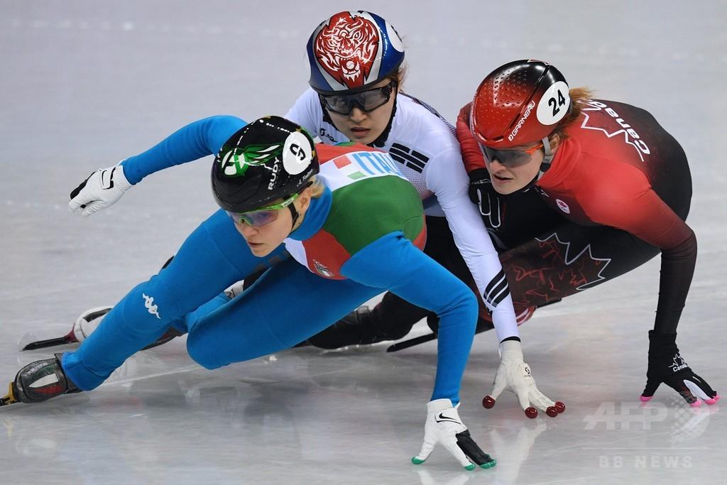 カナダのショートトラック選手に韓国国内から非難殺到、IOCは「敬意」求める