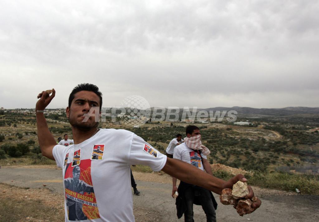 ヨルダン川西岸で分離壁抗議デモ、警官隊と衝突 40人以上負傷