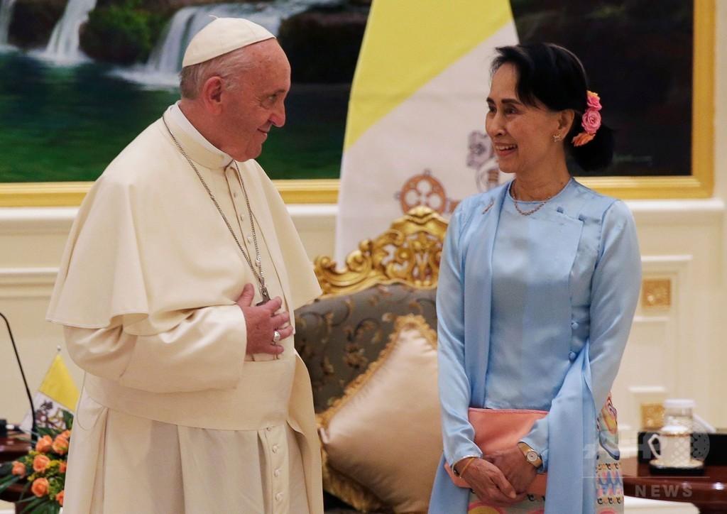 フランシスコ法王、ミャンマーで演説 ロヒンギャには直接言及せず