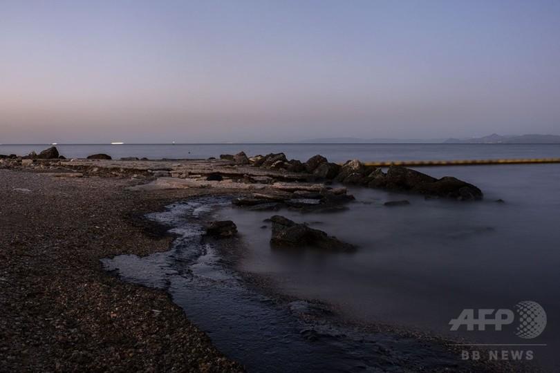 【AFP記者コラム】天国を汚した油─「小規模な」流出事故が奪った青い海
