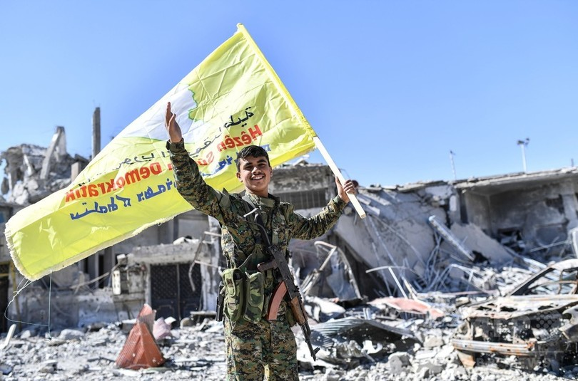 シリア民主軍、ISの「首都」ラッカを「完全制圧」と発表