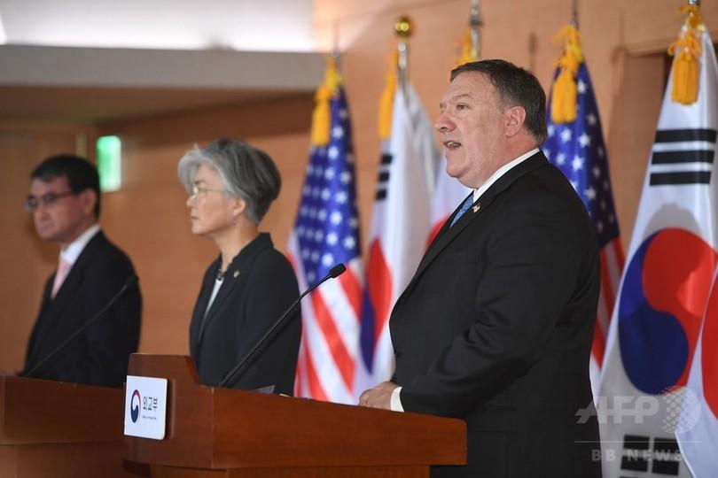 非核化完了まで対北朝鮮制裁の緩和行わず、ポンペオ氏
