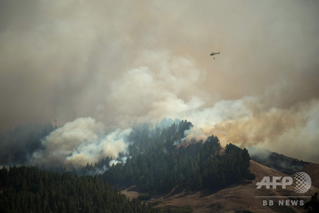 「環境的惨事」 スペイン・カナリア諸島の森林火災、制御不能状態