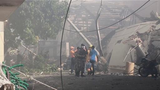 動画:プラスチック工場で爆発、3人死亡 複数負傷 ドミニカ共和国