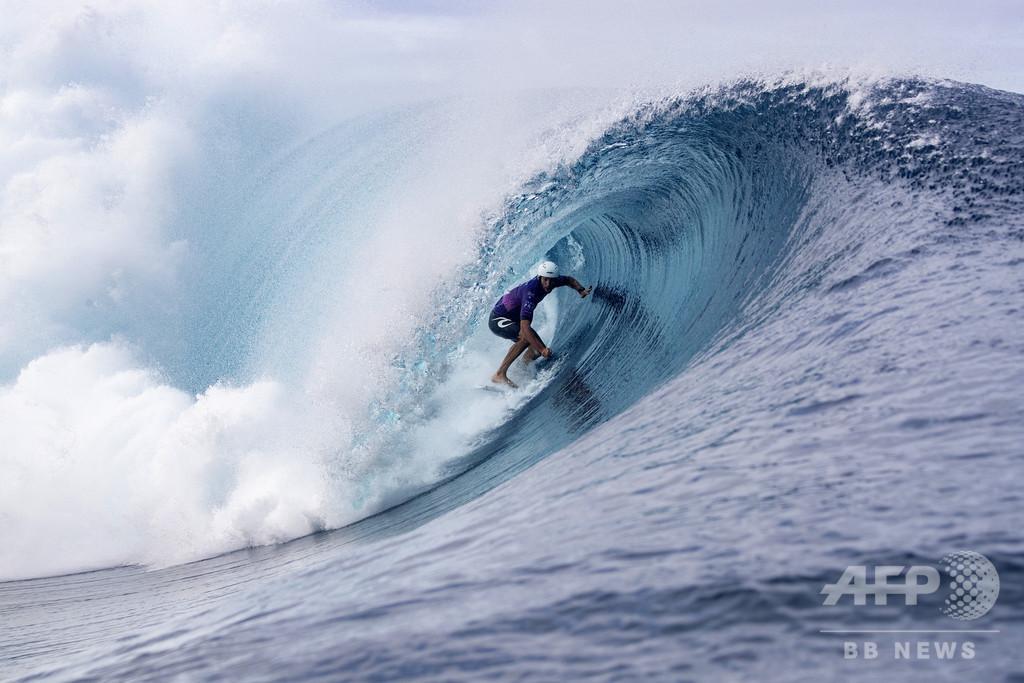 24年パリ五輪のサーフィン会場、本国から遠く離れたタヒチ有力