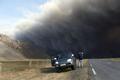 太陽の光をさえぎる噴煙、アイスランド