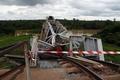 コートジボワールで鉄道橋が崩落