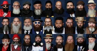 顎ひげ自慢が勢ぞろい、個性的な衣装も 仏