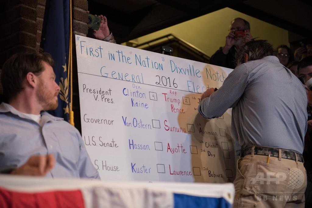ニューハンプシャー州で「米国一早い投票」 米大統領選