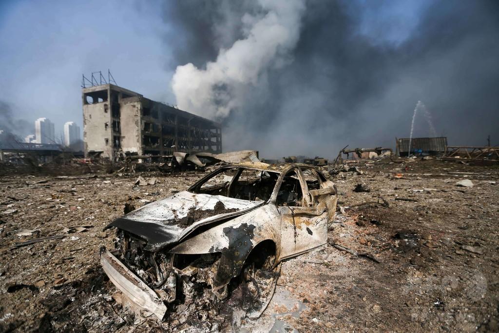 中国爆発、化学物質流出の恐れを調査 現場に有害物質700トンか