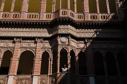 砂漠に立つインド15世紀の豪邸「ハベリー」 倒壊の危機に