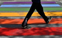 虹色の横断歩道、反性的少数者差別をアピール 仏