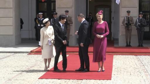 動画:秋篠宮ご夫妻、ポーランド大統領を表敬訪問