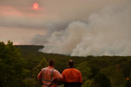 豪森林火災の煙霧、チリなど南米にも影響 太陽 赤み帯びる