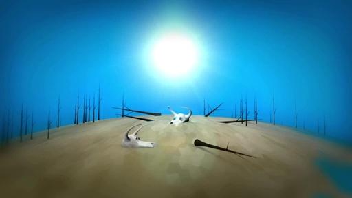 字幕:ビデオグラフィック「地球温暖化」