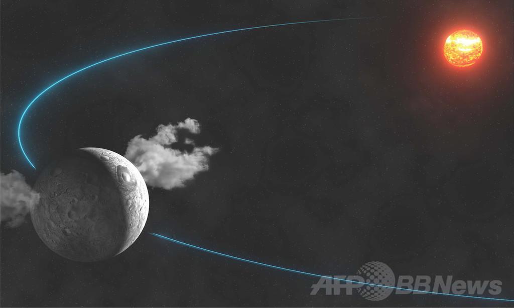 準惑星ケレスから噴き出る水蒸気、ESAが観測