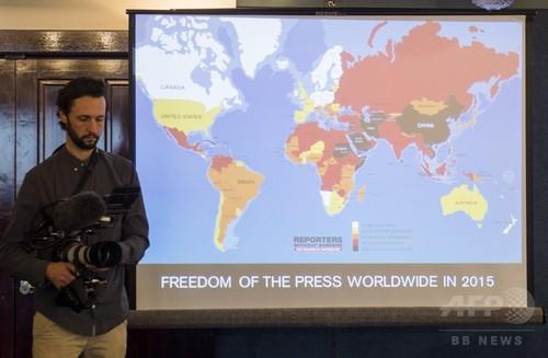 「報道の自由」は世界で大きく低下、日本は61位に後退
