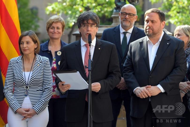 カタルーニャ独立めぐる住民投票、10月1日に実施と州首相 スペイン