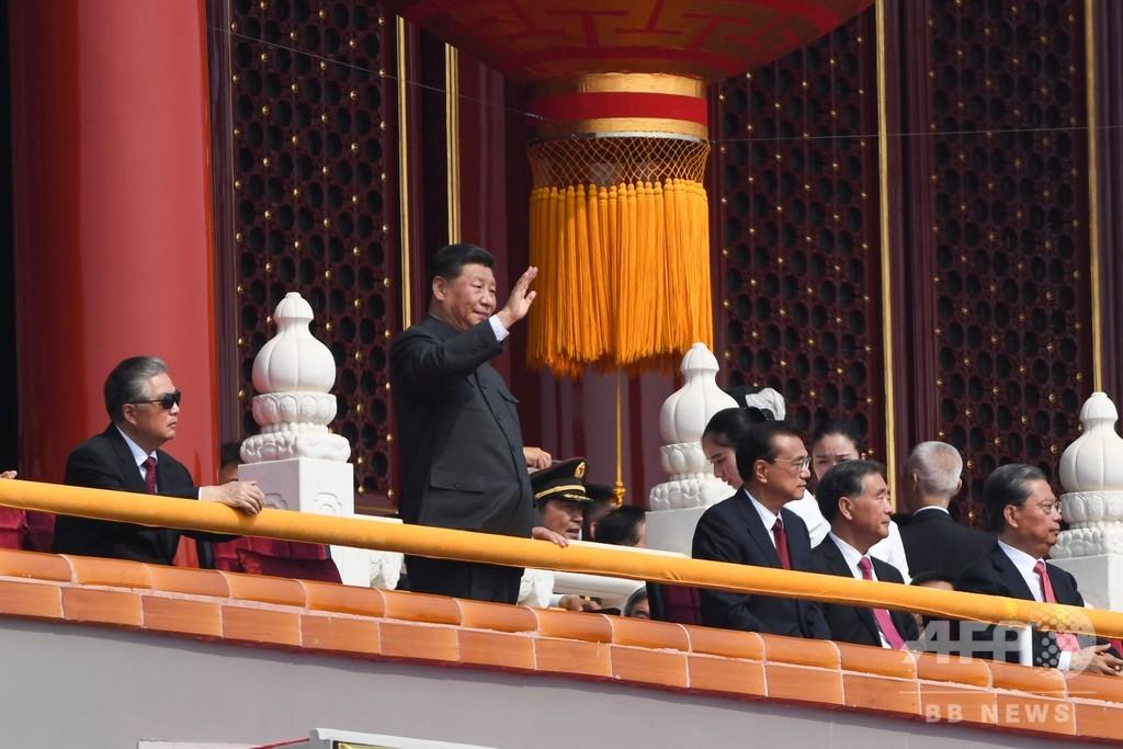 中国で建国70周年の記念式典 習主席「一国二制度を堅持」