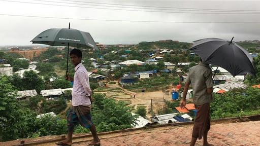 動画:ロヒンギャ難民キャンプがモンスーン被害、10人死亡 住居約5000戸が破壊される