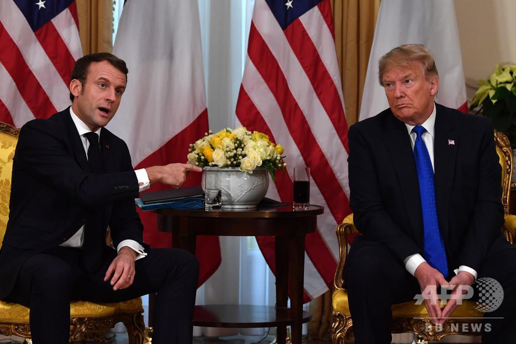トランプ氏、仏大統領を「首相」に格下げ 演説でミス