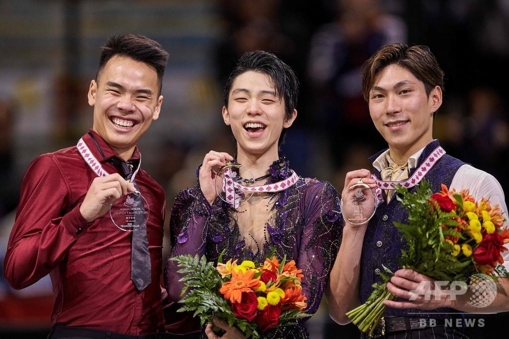 羽生がスケート・カナダで大差の優勝、田中は3位に