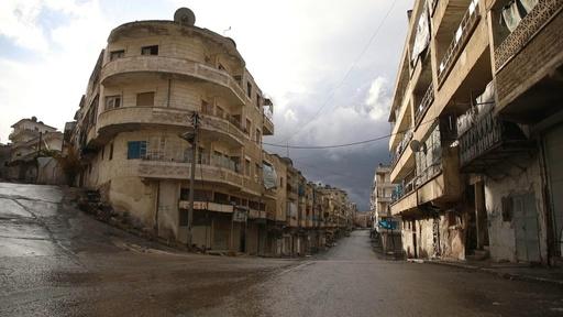 動画:静まりかえるシリア反体制派の町、政府軍進攻で住民ら避難