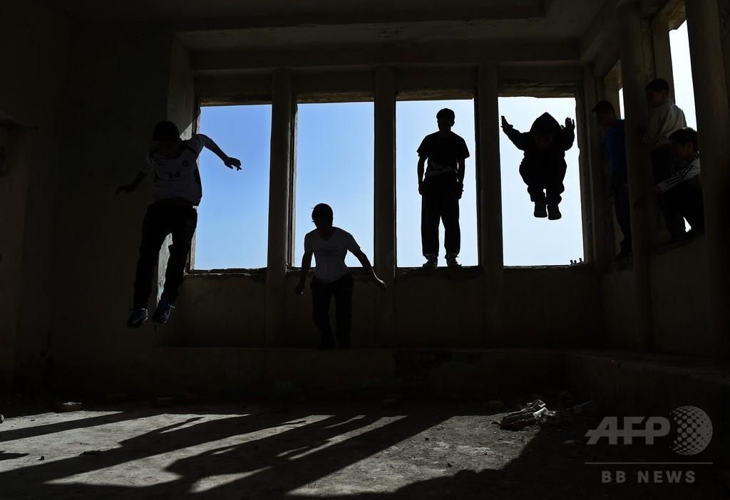 「パルクール」で自由見出す若者たち、アフガニスタン