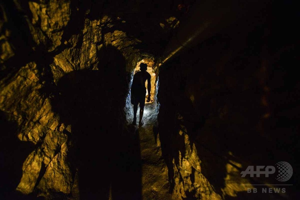 【AFP記者コラム】地球の中心に向かう旅、ベネズエラ違法金鉱の採掘者たち