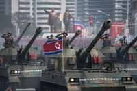 【写真特集】北朝鮮、金日成主席生誕105年の軍事パレード