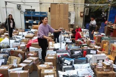 中国「独身の日」期間中の郵便物処理量、最高1日4億件