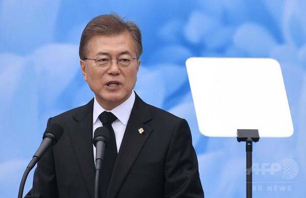 韓国の文大統領、今月訪米へトランプ米大統領と会談予定