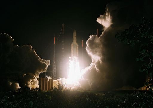 アリアン5の打ち上げ成功、人工衛星2基を軌道に