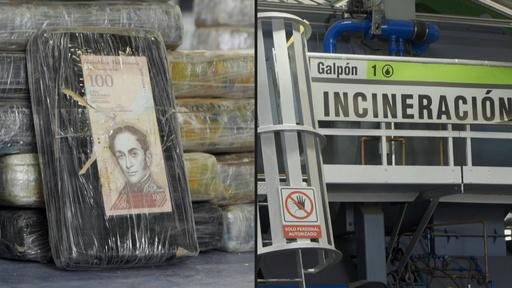 動画:コカイン2.6トンを焼却処分、152億円相当 エクアドル当局が押収