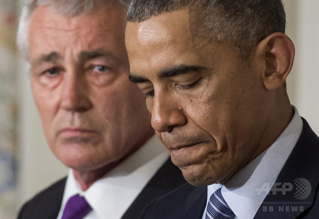 ヘーゲル米国防長官が辞任、イスラム国対応めぐり事実上の更迭