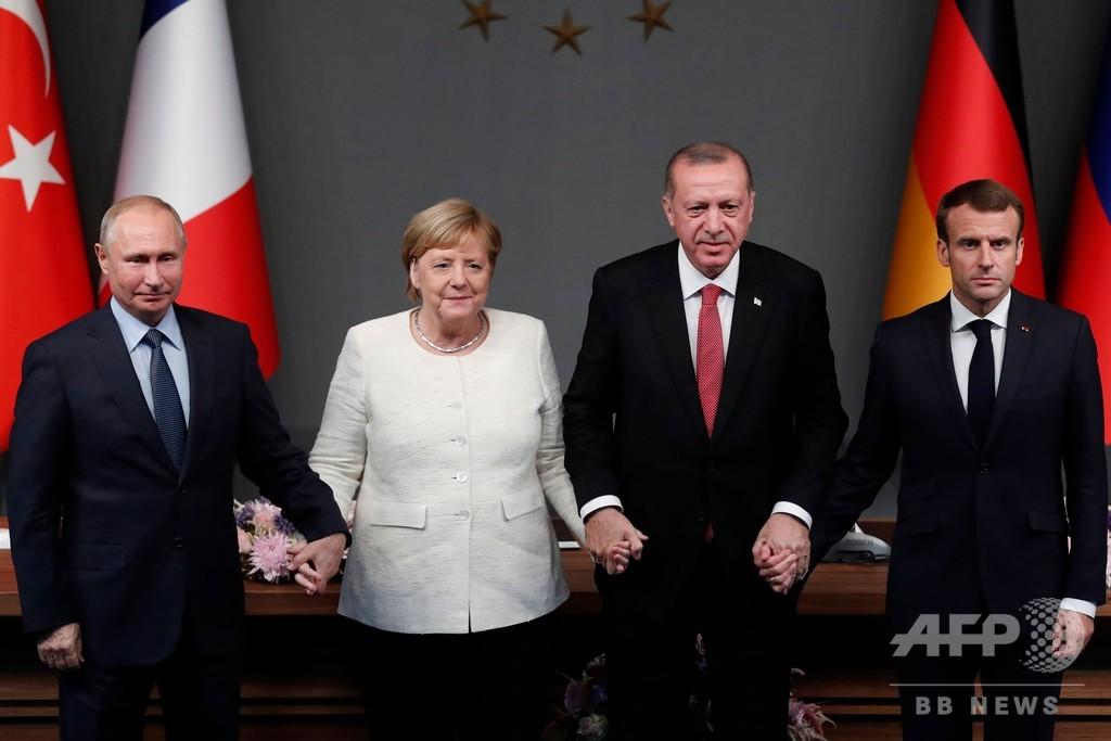 シリア・イドリブの停戦合意維持求める 4か国首脳が会談