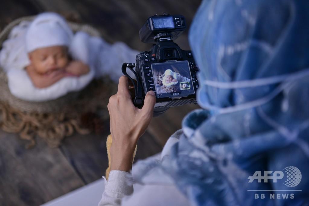 初撮影ですやすや…癒やしのニューボーンフォト インドネシア
