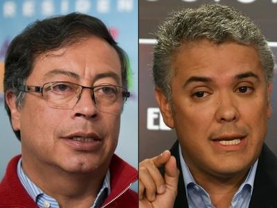 コロンビア大統領選、保守派ドゥケ氏らの決選投票へ