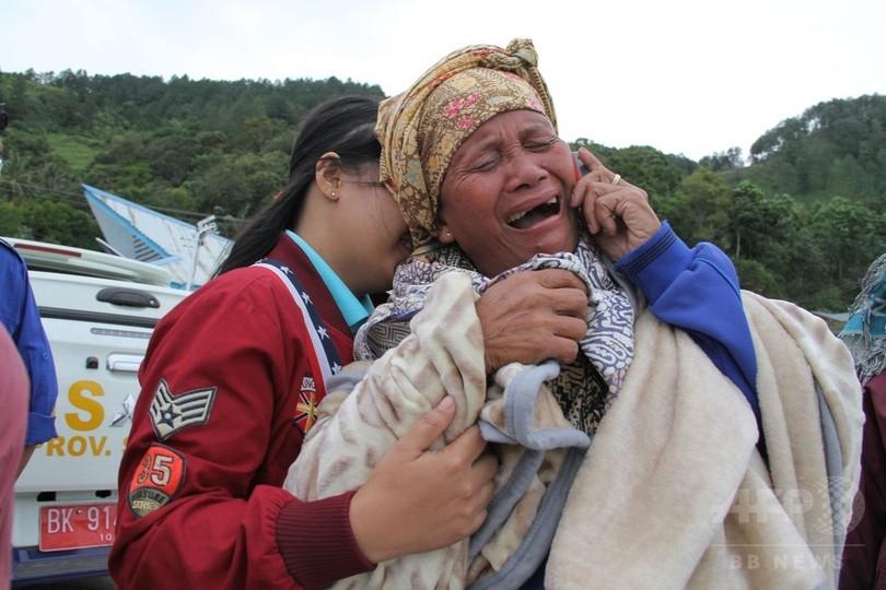 インドネシアの湖で客船沈没、1人死亡 130人不明の情報も