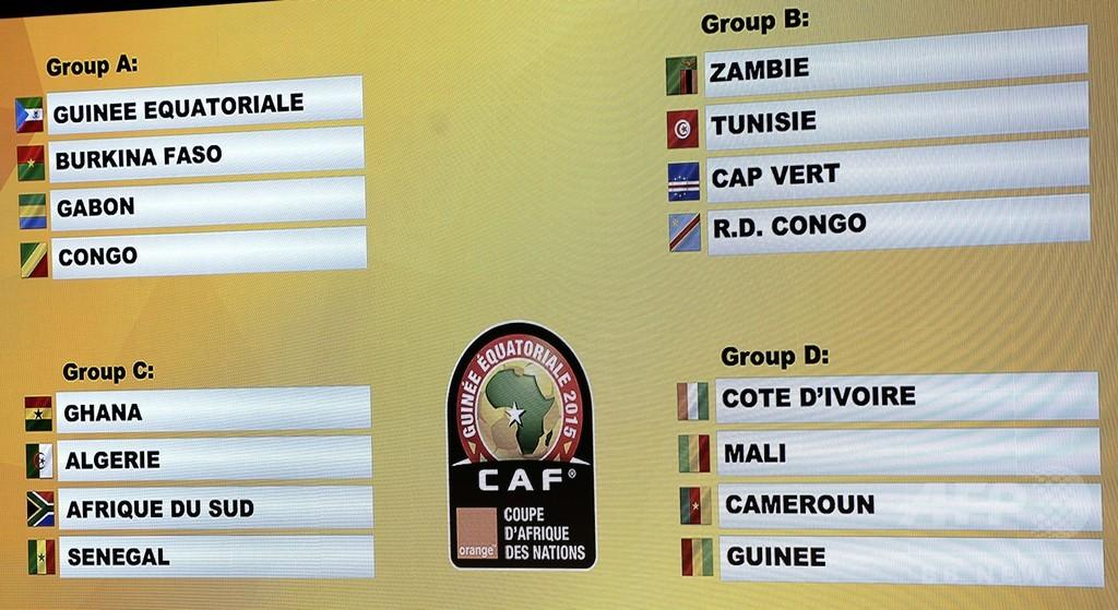 アフリカネイションズカップの組み合わせが決定