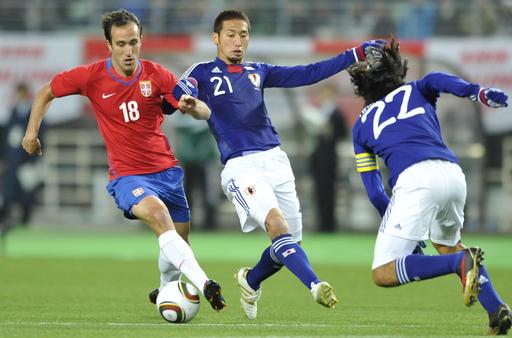 セルビアが日本に快勝、国際親善試合