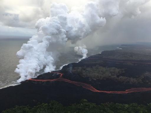 キラウエア火山の噴煙スモッグ、3700キロ離れたマーシャル諸島へ