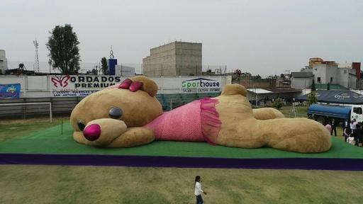 動画:全長20m! 世界最大のテディベア、ギネス認定 メキシコ