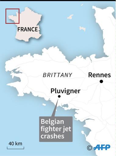 ベルギー空軍の戦闘機が仏で墜落、操縦士1人が電線に掛かり宙づりに