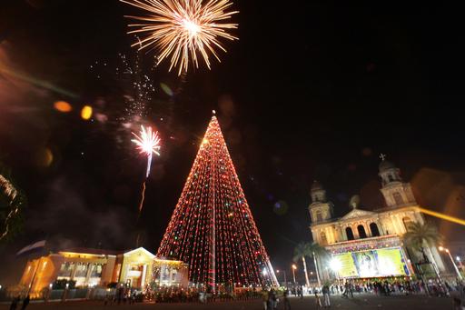 ニカラグアで、聖母マリアの無原罪を祝う祭りが開催