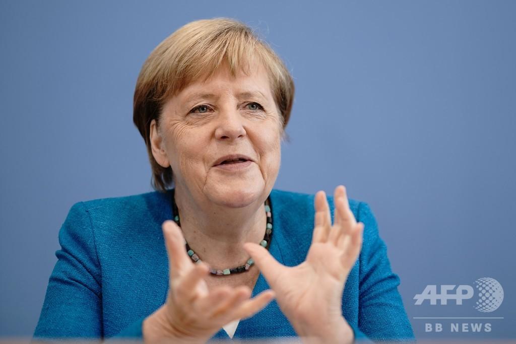 また移民危機でも「同じ決断」独首相 コロナ対応に高い支持