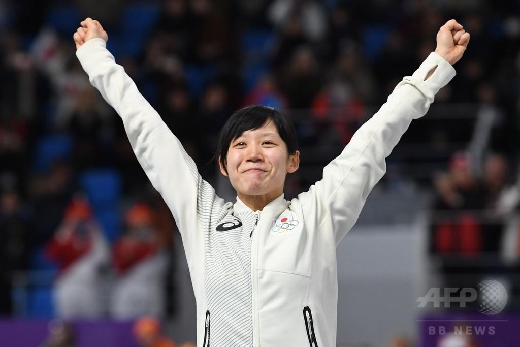 高木美帆がスピードスケート女子1500mで銀メダル、平昌冬季五輪