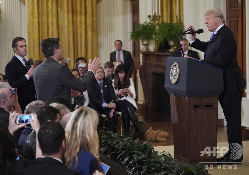 CNN記者締め出しは「行き過ぎ」、ホワイトハウス記者会が強く抗議