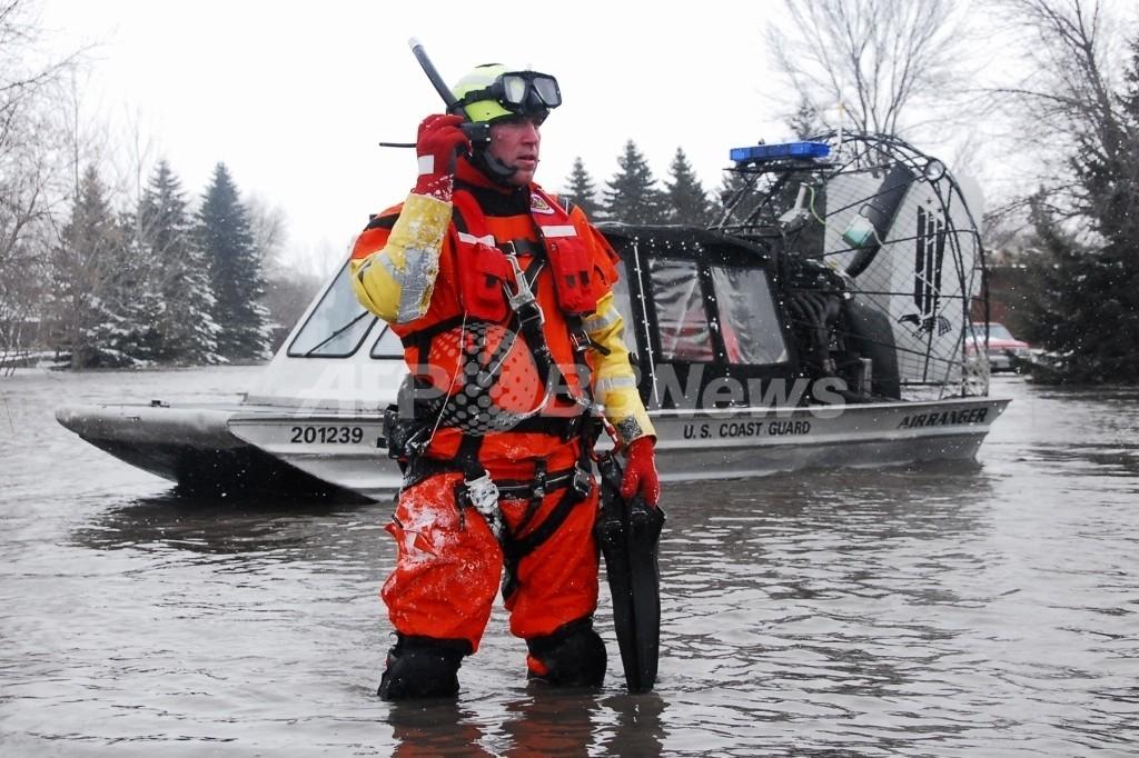 米ノースダコタ州洪水、3万人が家失う恐れ